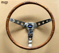"49-56 Ford Ranch Wagon Skyliner Grant Wood Steering Wheel Walnut 15"" Chrome"