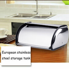 Small 34*21*14.5CM Stainless Steel Bread Box Storage Bin Keeper Food Container H
