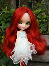 """12"""" Neo Blythe Doll  Dark Red Long Hair From Factory Nude Doll"""