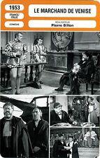 Movie Card. Fiche Cinéma. Le marchand de Venise (France/Italie) P. Billon 1953