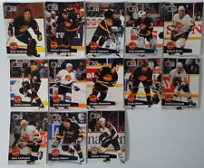 1991-92 Pro Set Series 1 Vancouver Canucks Team Set of 13 Hockey Cards