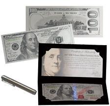 2017 $100 Franklin Currency Strike 5 Gram Silver Proof Mint Packaging SKU46472
