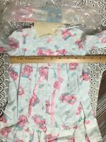 """1950's Totsy Fashion Baby Doll Clothes FLANNEL NIGHTGOWN fits 24-25"""" Pink Cats"""