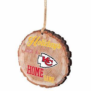 Kansas City Chiefs Christmas Tree Ornament Stump New - Holidays are a Home Game