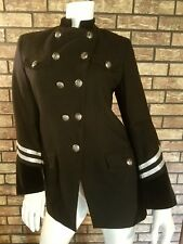 RAndoph Duke military style jacket navy w/SILVER  Trim sz 6