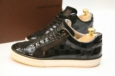 Genuine Men's Louis Vuitton Black Leather Suede Trainers Sneakers UK 6