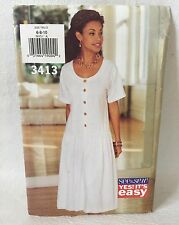 Butterick See & Sew sewing Pattern 3413 Sizes 6-8-10 UNCUT Misses Dress