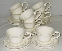 8 American Atelier BAROQUE IRONSTONE FLARED CUPS & SAUCERS*5286*