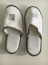 Fairmont Hotel White Slippers Womens One Size  NEW