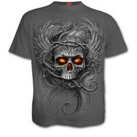 SPIRAL DIRECT ROOTS OF HELL T-Shirt/Biker/Tattoo/Evil/WingsMetal/Skull/Eagle/Top