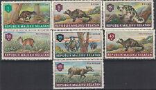 INDONESIE - REPUBLIK MALUKU SELATAN - 7 TIMBRES DENTELES - THEMATIQUE ANIMAUX.