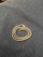 3 Mm Round Cut Tennis Necklace White Gold