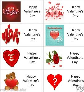 40 x Happy Valentines Day labels/stickers cakes/sweets/gift bags/presents
