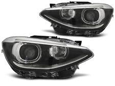 Paire de feux phares BMW serie 1 F20 / F21 11-14 angel eyes DRL noir (MG7)