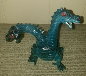 Vintage Imperial Two Headed Dragon Monster 1983 Plastic Vinyl Rubber Toy