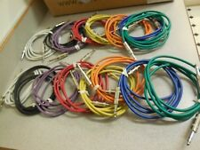 (8)  Custom 6 ft. TRS patch cable, modified for insert jack TS output cables.
