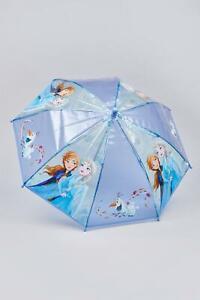 Frozen Anna Elsa olaf Girls POE Embossed Character Umbrella Dome Design