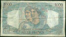 FRANCE 1000 FRANCS MINERVE et HERCULE du 17/2/1949  ETAT: TB   P 537