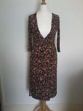 Oasis wrap dress Size UK 10 Browns autumnal pattern