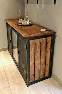 Industrial Style Wine Beer Fridge Sideboard Cabinet Industrial Furniture