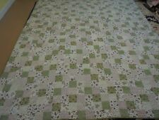 Nice Multi-Color Printed Cloth Granny Square Quilt