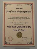Fathers Day Gift Present Best Dad Boyfriend Grandad Husband A5 Certificate BG