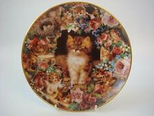 DANBURY MINT PICTURE PURRFECT VICTORIAN CATS PLATE BY VICTORIA HOWARD