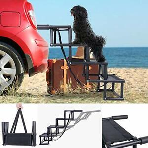 Car Steps for Dogs, Nonslip Folding Pet Steps for Small and Large Dog, Metal