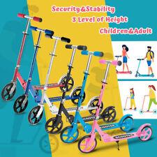 Folding Kick Scooter 4 Level Big Wheels Lightweight Outdoor Ride for Adult Kids