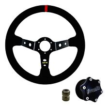Dragonfire Quick Release Shallow Suede Steering Wheel Kit RZR Maverick X3 All
