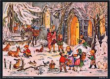 Bald ist Weihnachten. Adventskalender mit Silberglimmer. Reprint 1950er Nr. 16