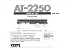 Akai AT-2250 Tuner Owners Instruction Manual