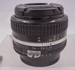 Nikon Nikkor 50mm F1.4 AI F Mount Prime Lens For SLR & DSLR Cameras - 1979