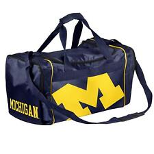 77d8e65ea1f7 Michigan Wolverines Duffle Bag Gym Swimming Carry On Travel Luggage Tote NEW