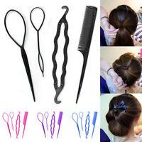 4 Pcs Set Girl Styling Clip Bun Maker Hair Twist Braid Ponytail Tool Accessories