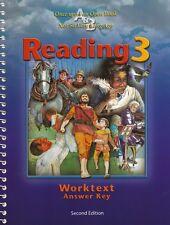 BJU Reading 3 Worktext Teacher's Edition Answer Key Second Edition - 3rd Grade