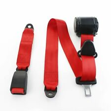 1X For Chevrolet Car Vehicle Red 3 Point Harness Safety Adjustable Seat Belt