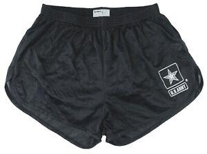 Black Nylon US Army Ranger Panties Silkies Running Shorts by Soffe Men's Medium