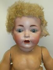 """21.5"""" Antique German Adolf Hulss Baby, Marked AHW 12, Adorable"""