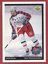 1992-93 Upper Deck McDonald's NHL All-Stars - #24 - Owen Nolan - Nordiques