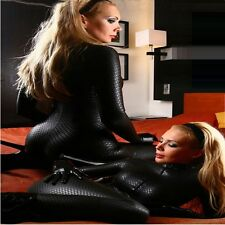 LADY in PVC Bagnato Supereroe Catsuit Catwoman Costume Body lt76
