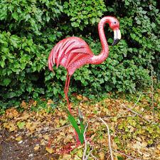 Large Metal Flamingo Pink Bird Statue Garden Lawn Animal Ornament Outdoor Figure
