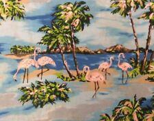 TP031 Flamingo Retro Hawaii Hula Luau Party Tropical Waikiki Apparel Fabric