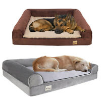 Waterproof Extra Large Dog Bed Orthopedic Sofa Bed Plush L-Shaped Chaise Lounger