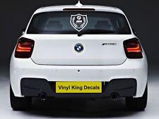 "BMW SHIELD M POWER STICKER VINYL DECAL REAR WINDOWS DOOR BONNET 10"""