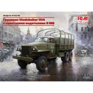 ICM 35510 1/35 Studebaker US6 with WWII Soviet Drivers Plastic Model Kit Brand N