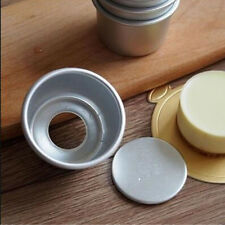 Removable Bottom Aluminum Alloy Pudding Mold Round Mini Cake Pan 3pcs/lot