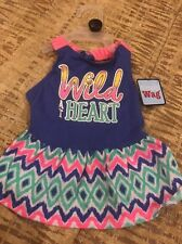 """SIMPLY WAG  Multi Color """"WILD AT HEART"""" Dress Puppy/Dog small"""