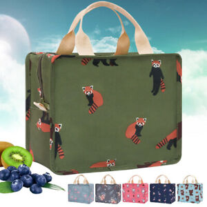 Animal Stripe Kids Cooler Insulated Portable Picnic Lunch Bags Box Thermal Carry