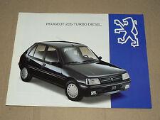 Prospectus PEUGEOT 205 Turbo Diesel 1993  brochure prospekt  car catalogue